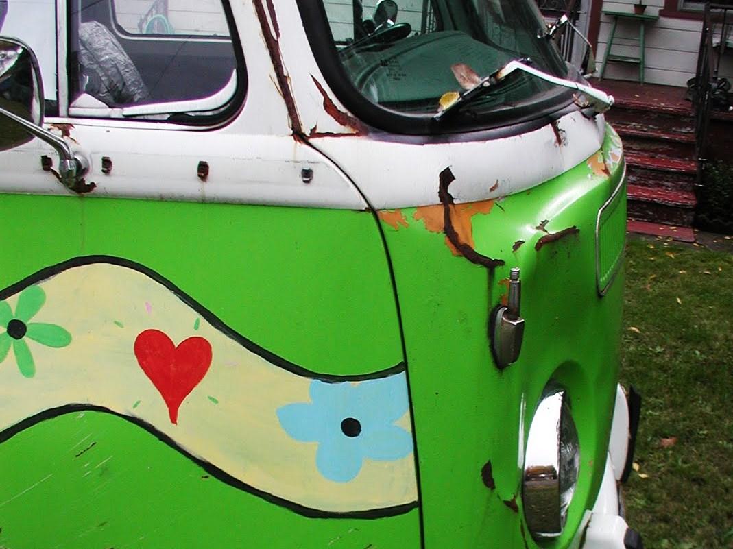 """""""Hippie van,"""" she says."""